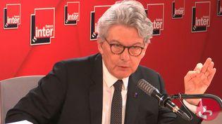 Thierry Breton, le commissaire européen au Marché intérieur, invité de France Inter lundi 11 octobre 2021. (FRANCE INTER / RADIO FRANCE)
