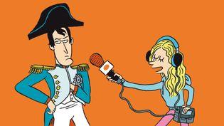 Napoléon au micro de Salut l'info! (FRANCEINFO / RADIOFRANCE)