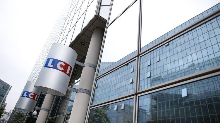 Les locaux de la chaîne d'information LCI, à Boulogne-Billancourt (Hauts-de-Seine), mardi 29 juillet 2014. (KENZO TRIBOUILLARD / AFP)