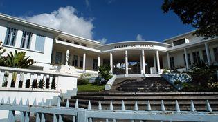 Le palais de Justice de Basse-Terre, en Guadeloupe, ici le 14 février 2004. (MAXPPP)