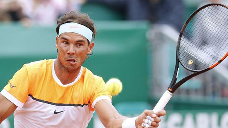 Rafael Nadal avec sa nouvelle raquette à Monte-Carlo