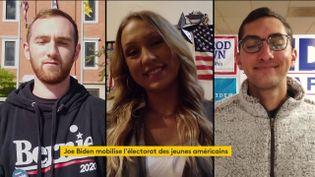 Des jeunes qui militent pourJoe Biden (FRANCEINFO)