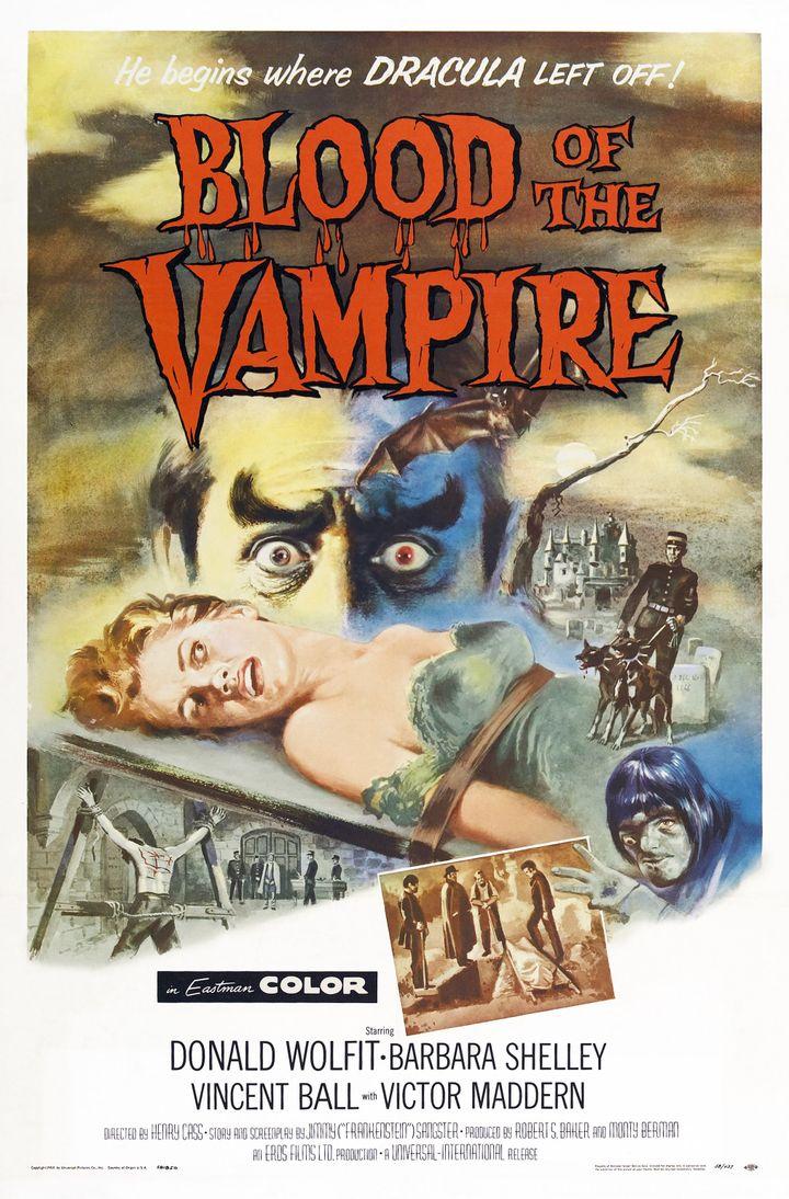 """Affiche du film """"Le sang du vampire"""" (1958) de Henry Cass (LMPC / LMPC)"""