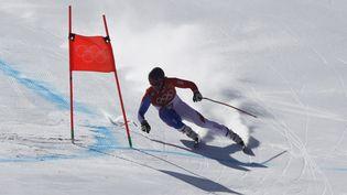 Le skieur français Alexis Pinturault lors de la descente du combiné, le 13 février 2018 aux Jeux olympiques de Pyeongchang (Corée du Sud). (STEFANO RELLANDINI / REUTERS)