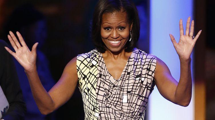 Michelle Obama achève les préparatifs de la convention démocrate, à Charlotte, en Caroline du Nord, lundi 3 septembre 2012. (JASON REED / REUTERS)