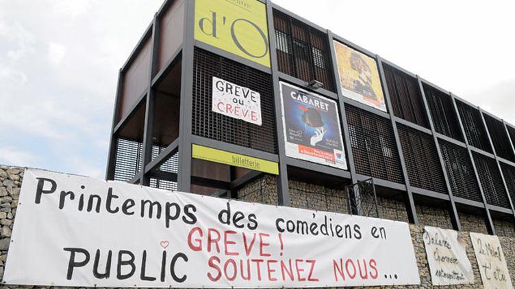 (La grève des intermittents reconduite vendredi à Montpellier (Printemps des Comédiens) © Maxppp)