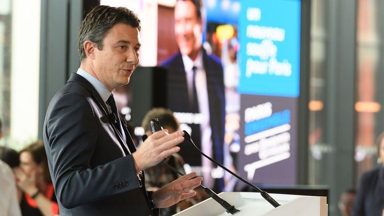 L'ex-candidat LREM à la mairie de Paris lors de la présentation de son programme, à Paris, le 13 février 2020. (JACQUES WITT / SIPA)