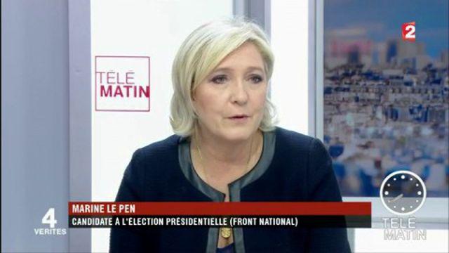 """Marine Le Pen dénonce """"un laxisme généralisé""""."""