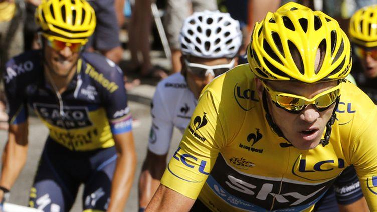 Contador tentera de renverser Froome, le tenant du titre (JOEL SAGET / AFP)