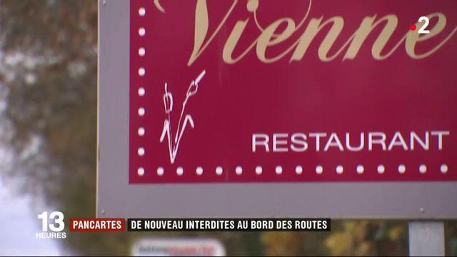 Commerce : les restaurateurs en colère contre la loi sur l'affichage de panneaux