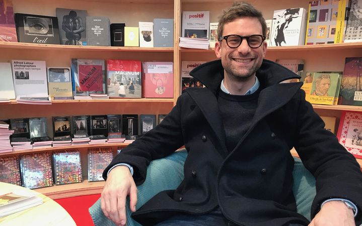 Le romancier Prix Goncourt 2018 Nicolas Mathieu, au salon Livre Paris le 16 mars 2019