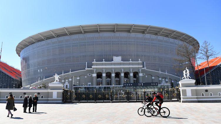 Le stade de football d'Ekaterinbourg (Russie) spécialement préparé pour la Coupe du monde 2018, le 11 mai 2018. (DONAT SOROKIN / TASS / GETTYIMAGES)
