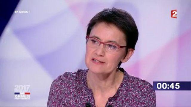 """Présidentielle : revivez le passage de Nathalie Arthaud dans """"15 minutes pour convaincre"""" sur France 2"""