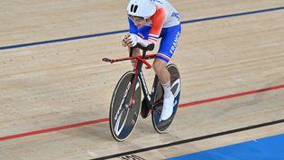 Alexandre Léauté a été sacré en para-cyclisme sur piste, jeudi 26 août, aux Jeux paralympiques de Tokyo. (L.PERCIVAL - CPSF)