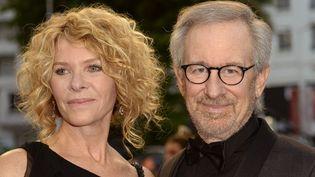 Seven Spielberg et son épouse le 18 mai 2013 à Cannes.  (ANNE-CHRISTINE POUJOULAT / AFP)