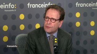 Gilles Le Gendre, président du groupe LREM à l'Assemblée nationale et député de Paris, invité de franceinfo lundi 14 janvier. (FRANCEINFO / RADIOFRANCE)