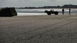 Le port d'Arromanches, en Normandie, à l'occasion des commémorations du 75e anniversaire du Débarquement des alliés. (FRANCK DUBRAY / MAXPPP)