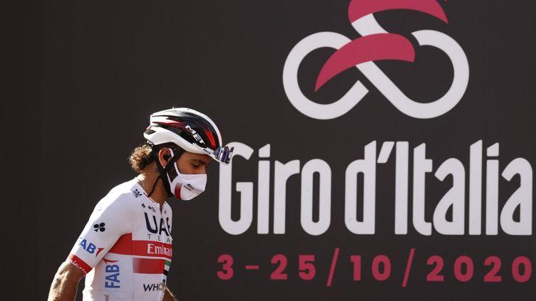 Positif au nouveau coronavirus pour la deuxième fois cette année, Fernando Gaviria est retiré du Tour d'Italie (LUCA BETTINI / AFP)