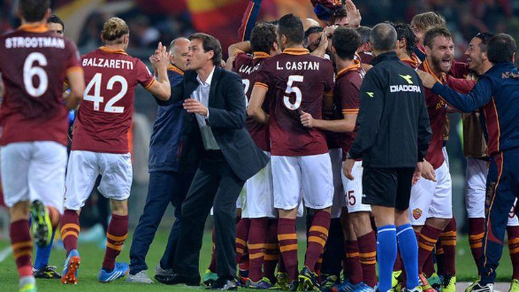 L'AS Roma de Rudi Garcia brille encore (FILIPPO MONTEFORTE / AFP)