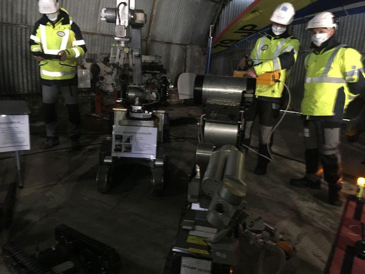 Exercice des Forces Rapides d'Action Nucléaire à la centrale de Paluel, près de Fécamp, en janvier 2021. (GREGOIRE LECALOT / RADIO FRANCE)