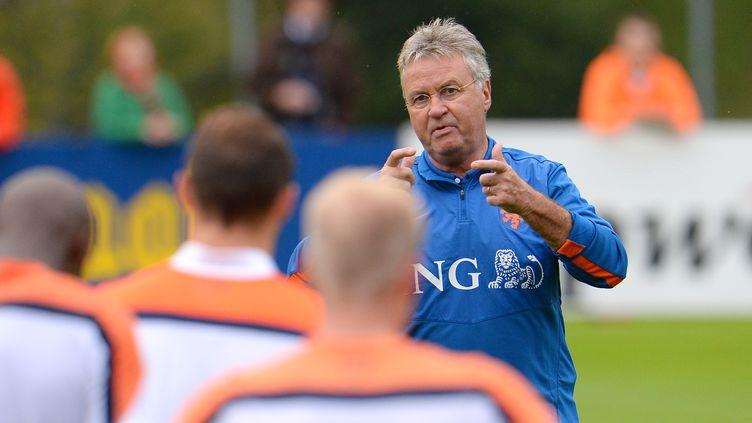 Guus Hiddink et ses troupes à l'entraînement (WILDBILD / AFP)