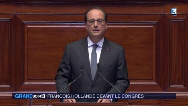 l'intervention de François Hollande face au Congrès