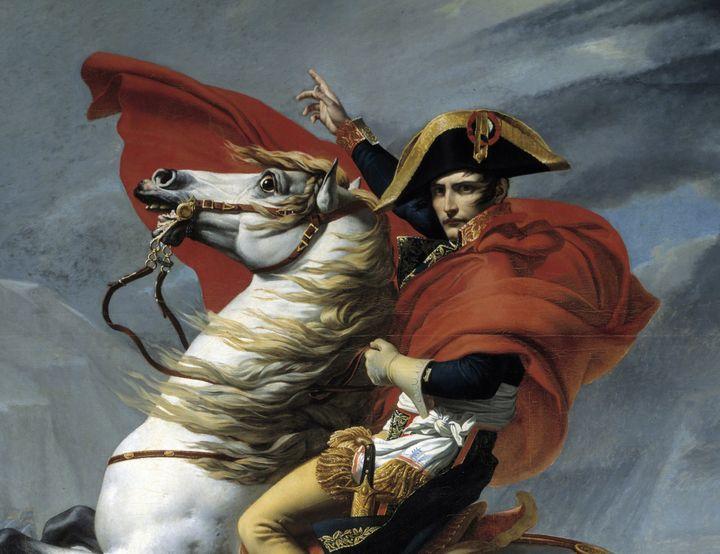 """Bonaparte franchissant le Grand Saint-Bernard"" David  (PHOTO JOSSE / LEEMAGE)"