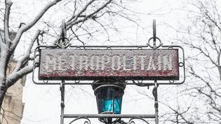 La circulation des bus est interrompue mardi 6 février 2018 au soir en Ile-de-France, y compris à Paris, en raison de la neige et du verglas.  (MAXPPP)