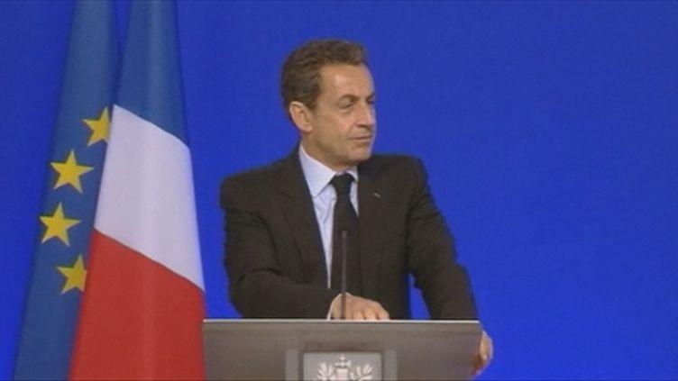 Nicolas Sarkozy en meeting (FTV)