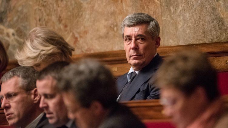Le député des Yvelines Henri Guaino participe à une séance de questions au gouvernement, le 27 janvier 2016, à Paris. (YANN KORBI / CITIZENSIDE.COM / AFP)