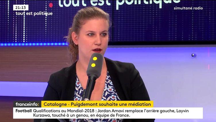 Mathilde Panot est députée La France insoumise du Val-de-Marne. (FRANCEINFO)