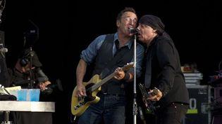 Bruce Springsteen et Steven Van Zandt à Hyde Park, le 14 juillet 2012  (Jonathan Short / AP / SIPA)