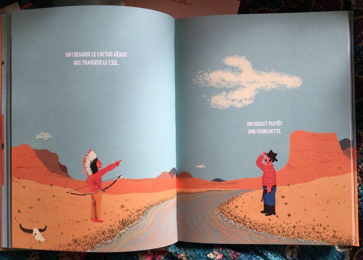 """Pages intérieures de """"Duel au soleil"""", Manuel Marsol, L'Agrume"""