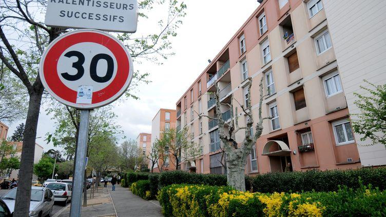 La cité du Val-Plan, à Marseille (Bouches-du-Rhône), photographiée le 26 avril 2013. (  MAXPPP.)