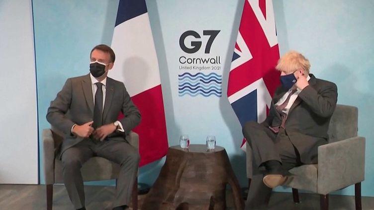 G7 : réunion crispée entre Emmanuel Macron et Boris Johnson sur fond de Brexit (France 2)