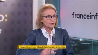 Laure de La Raudière (présidente de l'Arcep, Autorité de régulation des télécoms), invitée de franceinfo. (FRANCEINFO)