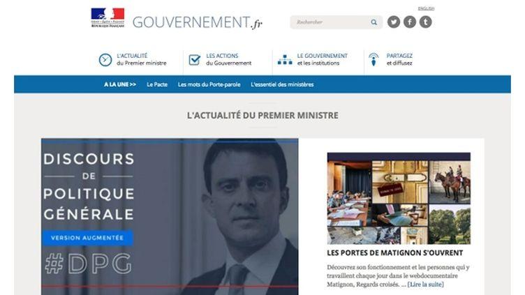 (Exclusif - France Info vous dévoile la home du futur nouveau site du gouvernement)