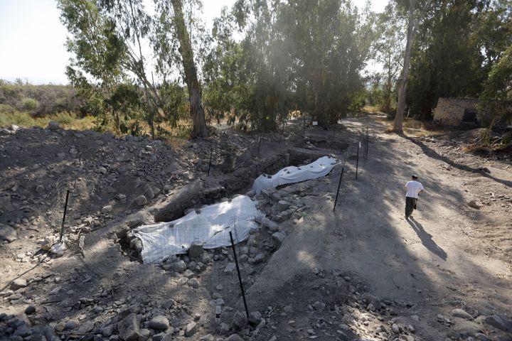 Le site archéologique se situe entre les villes bibliques de Capharnaüm et Kursi. (MENAHEM KAHANA / AFP)