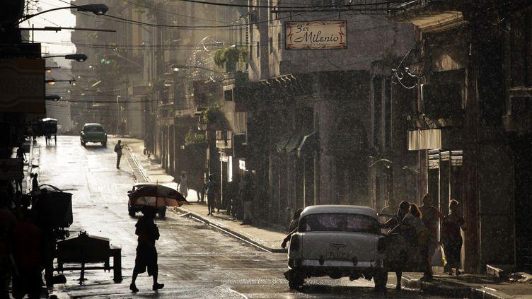 Des pluies importantes en septembre 2013 à La Havane (Cuba). (DESMOND BOYLAN / REUTERS )