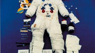 Photo non datée du scaphandre porté par Neil Armstrong pour son expédition sur la Lune lors de la mission Apollo 11, en 1969. (NASA / AFP)