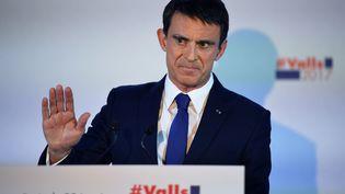 Manuel Valls, le 22 janvier 2017, à Paris. (ERIC FEFERBERG / AFP)