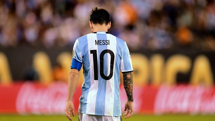 Lionel Messi le 6 juin 2016 lors d'un match à East Rutherford (Etats-Unis). (ALFREDO ESTRELLA / AFP)