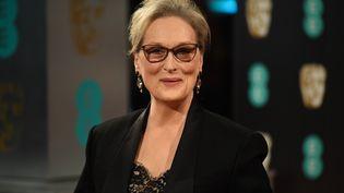 L'actrice Meryl Streep lors de son arrivé aux British academy film awards, à Londres, le 12 février 2017. (JUSTIN TALLIS / AFP)