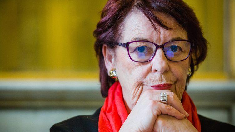 Marie-Pierre Badré, la présidente du centre Hubertine Aucler, observatoire des violences faites aux femmes, le 7 mars 2017 à Paris. (AURELIEN MORISSARD / MAXPPP)