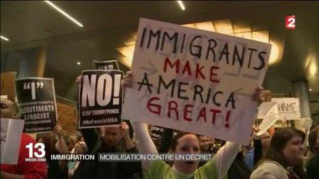 Immigration : mobilisation contre les décrets de Donald Trump