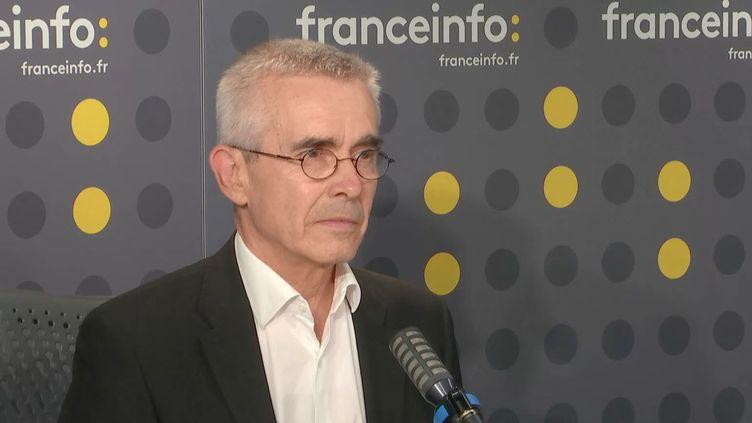 Yves Veyrier secrétaire général de Force ouvrière sur franceinfo vendredi 3 juillet 2020. (FRANCEINFO / RADIOFRANCE)
