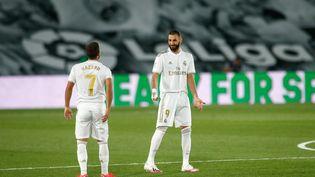 Karim Benzema lors du match de Liga entre le Real et Valence le 18 juin 2020 à Madrid (Espagne). (OSCAR BARROSO / SPAINDPPI)