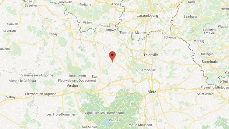 La fillette a été percutée par la voiture de son oncle sur la commune de Piennes (Meurthe-et-Moselle). (GOOGLE MAPS)