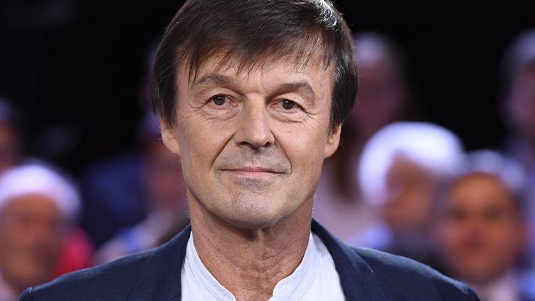 """Nicolas Hulot, ancien ministre de la Transition écologique, sur le plateau de """"L'Emission politique"""", sur France 2, le 22 novembre 2018. (BERTRAND GUAY / AFP)"""