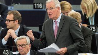 Le négociateur en chef de l'UE Michel Barnier s'est montré instansigeant ce 3 octobre, soutenu par la Commission et le Parlement européen (PATRICK SEEGER / MAXPPP)